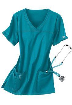 Cherokee Workwear Stretch shaped v-neck scrub top. - Scrubs and Beyond