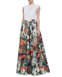 Alice + Olivia Tina Floral Ball Gown Skirt - Neiman Marcus