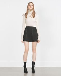 Image 1 of TOP STITCHED MINISKIRT WITH POCKETS from Zara