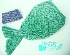 HodgePodge Crochet: Diamond Mermaid Cocoon Photo Prop PDF Pattern. $5.50