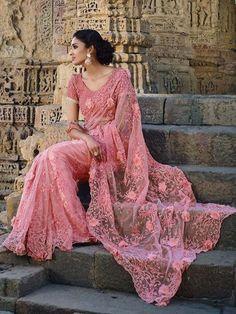 Pink+Color+Heavy+Embroider+Designer+Party+Wear+Saree   #indianfashion #dress #latepost #australia #indiandesigner #punjabisuit #pakistanifashion #anarkali #indianweddings #punjabiwedding #tamilbride #bridallengha #southasianbrides  #lehenga #pakistan #india #newyork #fashion #designer #kareenakapoor #bridalshower #weddingdress #weddings #henna #inspiration #indian #dubai #southindian #london #shopping