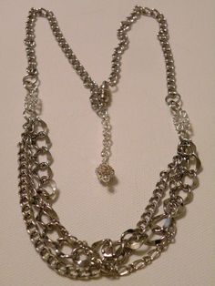 Multi Strand & Multi Texture Chain Necklace by OneOfAKindDesignsByD on Etsy