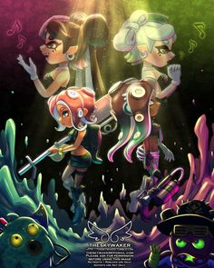 """""""""""this changes everything"""" a tribute to my personal game of the year, octo expansion"""" Splatoon 2 Game, Splatoon Comics, Splatoon Squid Sisters, Callie And Marie, Cute Kawaii Drawings, Fanart, Cute Characters, Game Art, Cool Art"""