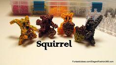 Rainbow Loom Squirrel Figure/Charm - How to - Animal Series Tutorial by Elegant Fashion 360