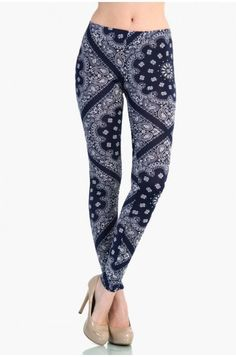 OMG Antique Pattern Leggings - Blue
