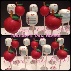Teacher's Day theme cake pops