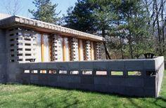 Gerald B. Tonken's Residence. Facade and courtyard
