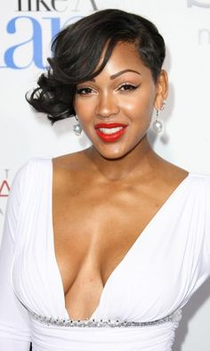 Meagan Good is one of the sexiest black women out there and ever since she cut her hair short she has been getting a lot of attention. This short hairstyle is not for everyone but surely works great on Meagan.
