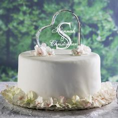 wedding cake toppers at walmart | Personalized single initial heart cake topper - Walmart.com