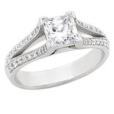 Found it!!!  Princess White Gold Engagement Rings | Princess Cut