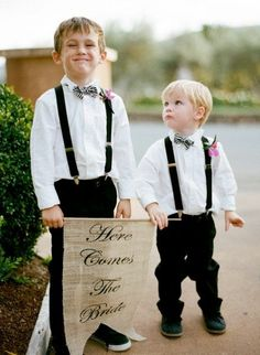 Black + white bow ties
