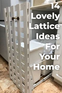 Copy One Of These Lovely Lattice Ideas For Your Home! #diy #homedecor #diyhomedecor #home #decor #lattice #upcycling