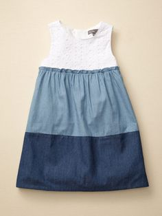 Mali Kids Color Blocked Dress - use a cheap store bought tank and add layers of fabric to it.