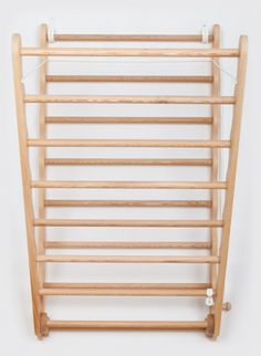 Laundry Ladder by Julu, is an attractive wall mounted wooden Clothes Airer. A luxury solution for indoor drying. Diy Clothes Airer, Wooden Clothes Drying Rack, Wall Mounted Drying Rack, Hanging Clothes Racks, Laundry Closet Organization, Drying Rack Laundry, Laundry Dryer, Room Organization, Small Utility Room