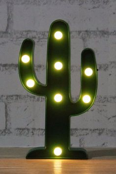 This warm LED lit, cactus light is the perfect way to bring a little wild west chic and kitsch cowboy charm to your homestead.