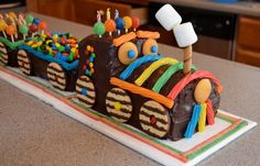 Chocolate Train Birthday Cake - Annie's Amazing Cakes