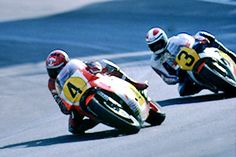 Kenny Roberts leads Freddie Spencer at the 1983 Swedish GP. Race ends in controversy as championship leaders Roberts and Spencer collide on last lap. In the final corner, Spencer slips inside of Roberts but both run wide into the dirt as they exit the turn. Spencer gets back on the track and throttle first, crossing the line just ahead of Roberts. Roberts considers Spencer's pass to have been foolish and dangerous. Spencer maintains it was a calculated risk necessary to secure the…