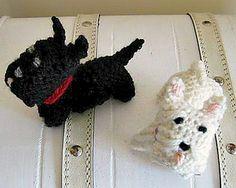 Westie and Scottie Knitted pattern by StitchGeek
