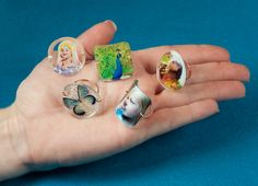 Little Windows Bendy Rings In Hand. Learn how to make adorbs jewelry with resin