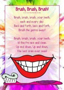 Dental Health Song FREEBIE health coping skills health i… Songs For Toddlers, Lesson Plans For Toddlers, Dental Health Month, Oral Health, Teeth Health, Dental Kids, Dental Care, Dental Teeth, Children's Dental