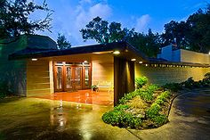 The only home in Houston, TX ever designed by Frank Lloyd Wright...gorgeous!!!
