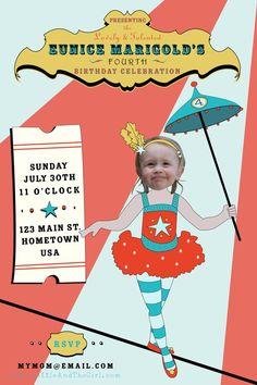 Custom Circus Invitation!