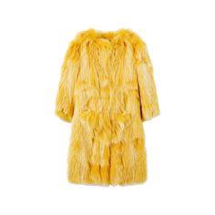 ブルーガール(BLUGIRL)|Item Searchファッション|VOGUE ❤ liked on Polyvore featuring outerwear, coats, jackets, fur, yellow coat, fur coat y blugirl
