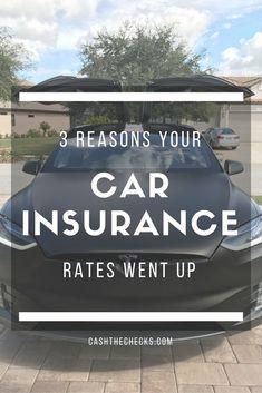 3 Reasons Your Car Insurance Rates Went Up auto insurance pictures Car Insurance Rates, Insurance Broker, Cheap Car Insurance, Insurance Agency, Home Insurance, Health Insurance, Best Money Saving Tips, Saving Money, Money Savers