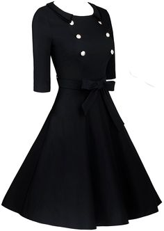 Angerella Vintage 3/4 Sleeve Party Swing Dress With Belt at Amazon Women's Clothing store:  https://www.amazon.com/gp/product/B01LZKP0TU/ref=as_li_qf_sp_asin_il_tl?ie=UTF8&tag=rockaclothsto-20&camp=1789&creative=9325&linkCode=as2&creativeASIN=B01LZKP0TU&linkId=9c46f0c471433c5ecafeab51c5aa30db