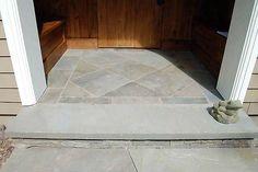 Brick And Bluestone Steps Stately Bluestone Steps Have A