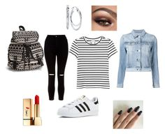 """""""First day of school? #1 #polyvore"""" by imelvawilliams on Polyvore featuring Monki, New Look, adidas, 3x1, NLY Accessories, Unwritten and Yves Saint Laurent"""