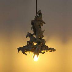 chandelier horses light recycle art lamp hanging pendant