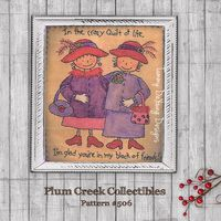 Red Hat Society Ladies Embroidery Pattern #506