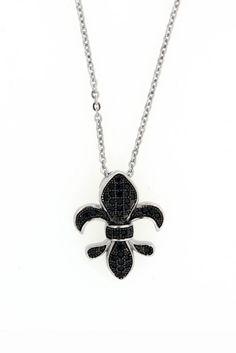 Fleur De Lis Necklace. Cute Jewelry, Jewlery, Jewelry Box, Jewelry Watches, Jewelry Necklaces, Jewelry Making, Saints Gear, Fashion Accessories, Fashion Jewelry