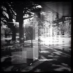 by _Lna, via Flickr | #bw #blackandwhite #black #white #grey #architecture #reflection #blur #iphoneography