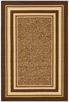 Ottohome Brown Area Rug