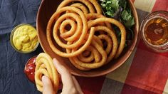 Recipe with video instructions: If you thought curly fries were the pinnacle of fry evolution, check this out. Ingredients: 1 2/3 cups potatoes, peeled and cubed, 1 egg, beaten, 2 tablespoons potato starch, 2 tablespoons Parmesan cheese, Salt , Freshly ground pepper, 3 tablespoons milk,