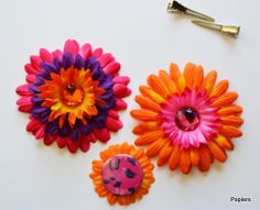 Hot Pink & Orange Interchangeable magnetic accessories from Poplers.com.