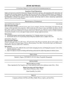 Hospitality Resume Writing Example Page 1 Resume Writing Tips