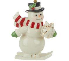 Lenox Snowman Porcelain Ornament. #Lenox #Statue #Sculpture #Figurine #Decor #Gift #gosstudio .★ We recommend Gift Shop: http://www.zazzle.com/vintagestylestudio ★