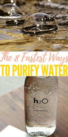 The 8 Fastest Ways to Purify Water — If the SHTF and you're running from a violent mob, fighting off looters, and trekking for miles through the wilderness, you're gonna get pretty thirsty. Hopefully you can take some water with you, but you're going to run out eventually, which means you'll have to find water and purify it.