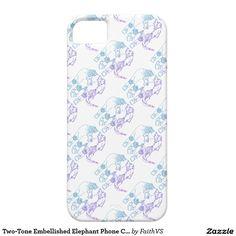 Two-Tone Embellished Elephant Phone Case
