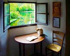 Japan Style, Japan Fashion, Living Spaces, Kittens, Windows, Deco, Book, Garden, Tapestry Weaving
