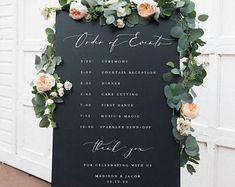 Wedding Timeline Sign / Wedding Itinerary Agenda Icons / | Etsy Wedding Welcome, Our Wedding, Wedding Order, Wedding Ideas, Wedding Planning, Dream Wedding, Wedding Goals, Wedding Book, Wedding Wishes