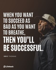 Quotes For Him, Quotes To Live By, Life Quotes, Eric Thomas, Goal Digger, Take Risks, To Reach, Motivationalquotes, Natural Health
