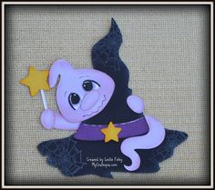 Ghost and Hat Halloween premade scrapbooking by MyCraftopia