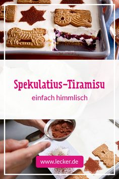 Speculoos tiramisu - it& that easy - Weihnachtsessen - Italian Cookie Recipes, Italian Cookies, Italian Desserts, Easy Desserts, Dessert Recipes, Dinner Recipes, Dessert Simple, Italian Pastries, Italian Chef