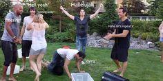 #The100 cast ice bucket challenge