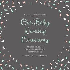 Two photo naming ceremony invitation beautiful baby girl green and gray baby naming ceremony invitation stopboris Image collections