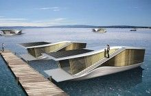 Floating home. Completely solar powered.
